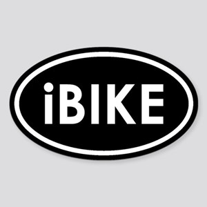 I Bike (Black) Oval Sticker